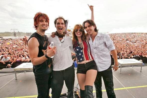 Arejay, Josh, Lzzy and Joe at Carolina Rebellion (by Rob Fenn)